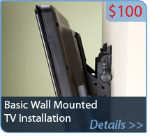 Basic Wall Mounted TV Installation