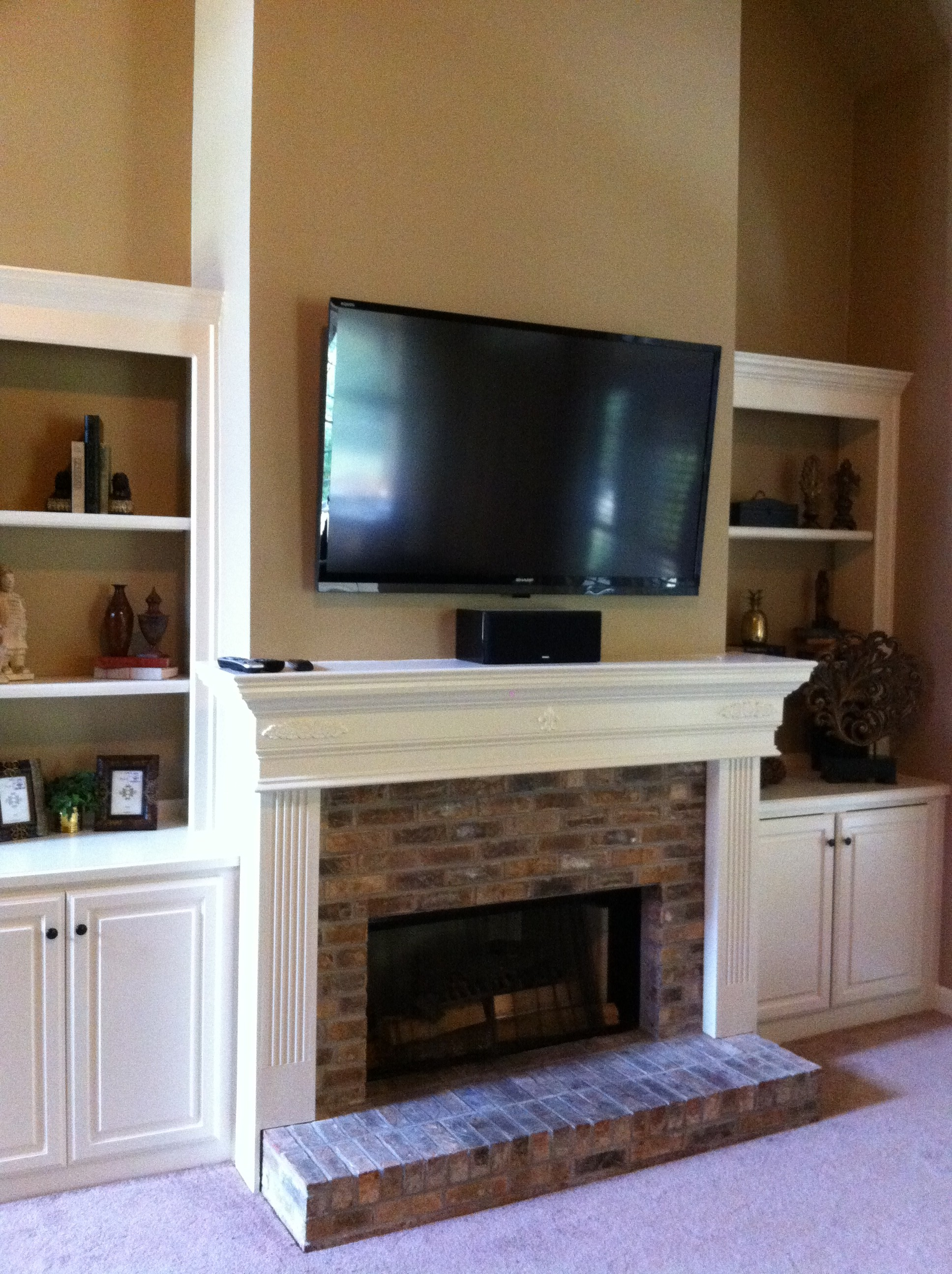 Over Fireplace Tv Install 1 Leslievillegeek Tv