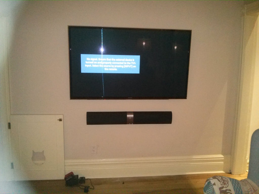 Toronto Wall Mounted Sound Bar Installation And Setup Services |  LeslievilleGeek TV Installation   Home Theatre   Cabling U0026 Wiring