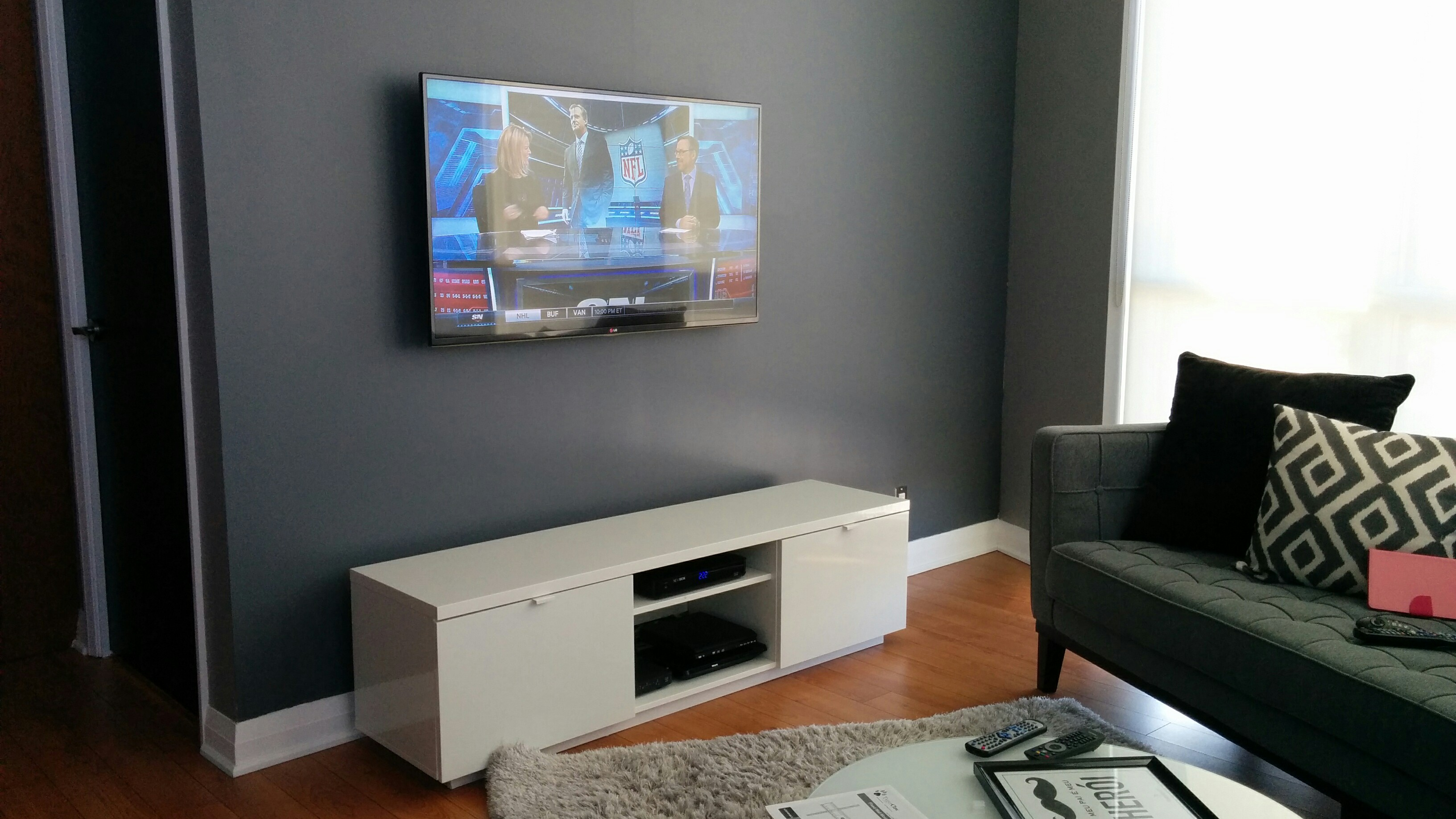 We Will Be Offering A Solution To Source, Assemble And Perform The  Installation Of Your Wall Mounted TV And Media Shelve Under The TV To Make  Your Loving ...