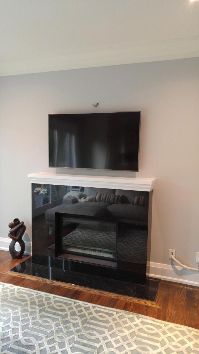 Above Fireplace TV Installation – LeslievilleGeek TV Installation ...